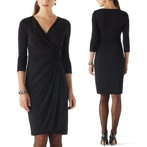 WHBM Matte Jersey Faux Wrap Dress Event or Office